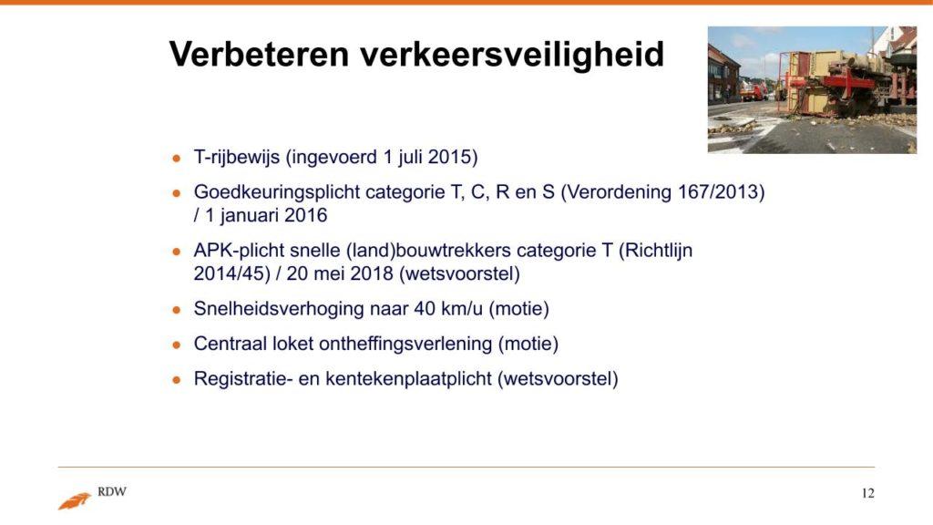 Kentekening RDW landbouwvoertuigen 12