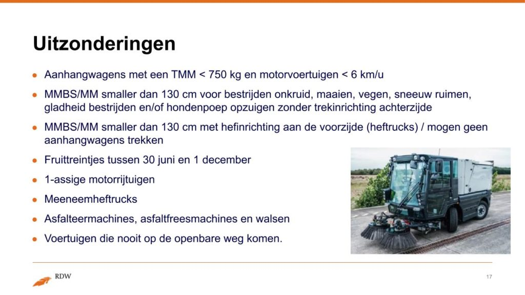 Kentekening RDW landbouwvoertuigen 17