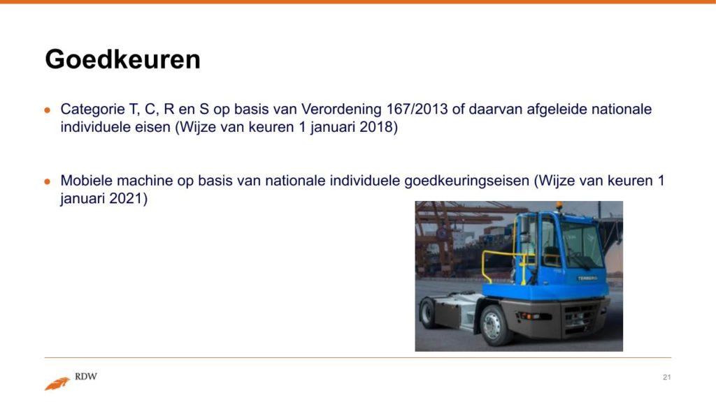 Kentekening RDW landbouwvoertuigen 21
