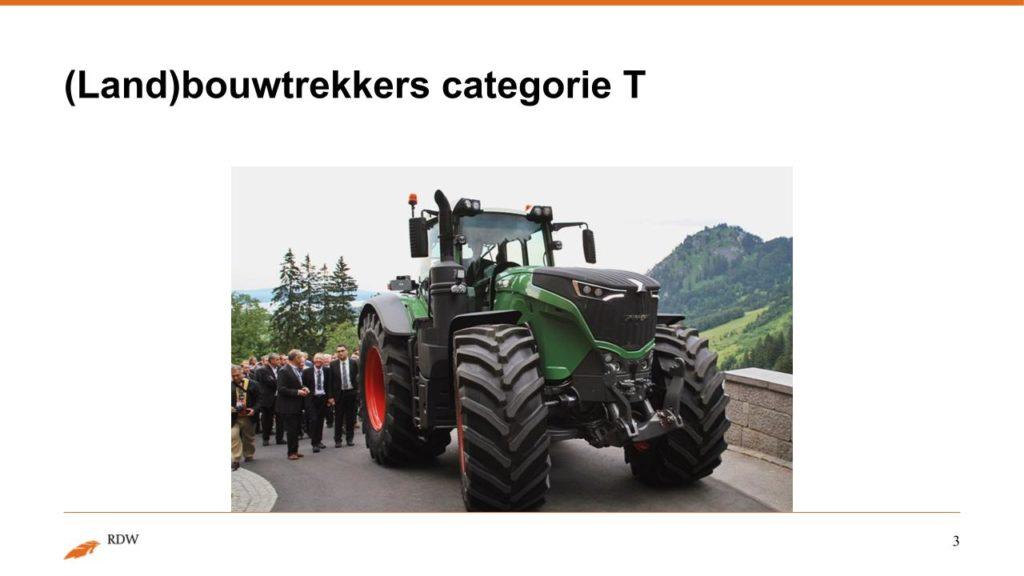 Kentekening RDW landbouwvoertuigen 3