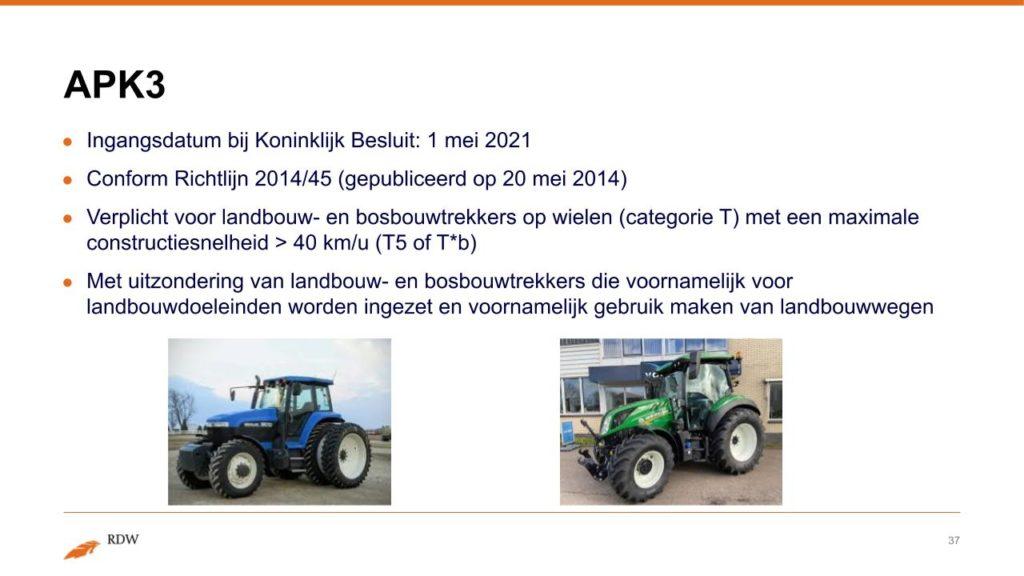 Kentekening RDW landbouwvoertuigen 37