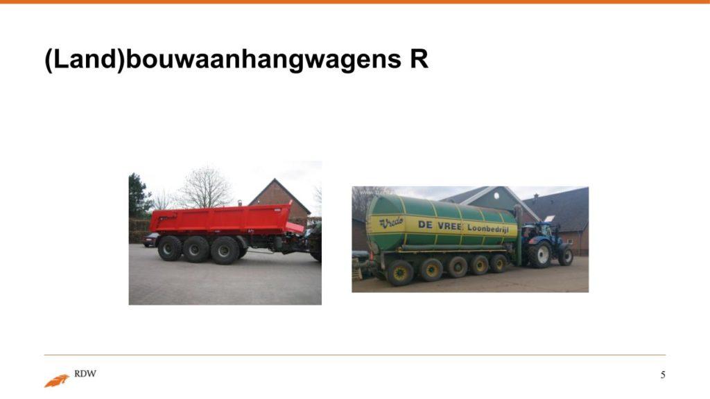 Kentekening RDW landbouwvoertuigen 5