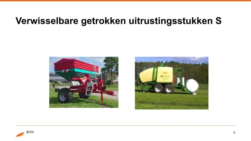 Kentekening RDW landbouwvoertuigen 6
