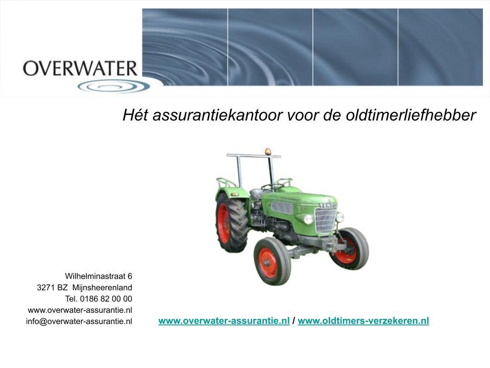 Oldtimer tractoren verzekering en kentekening pagina 1