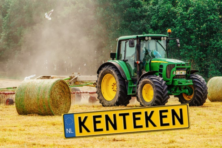 Tractoren op kenteken