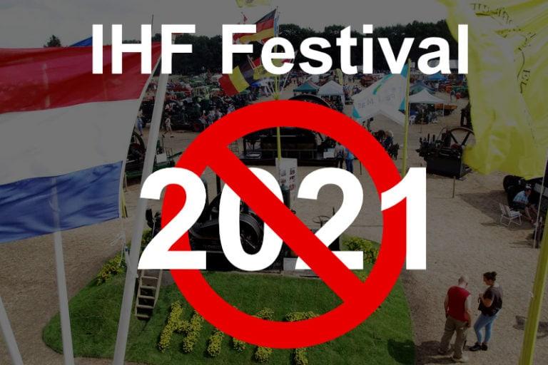 IHF Festival 2021 geannuleerd vanwege Corona