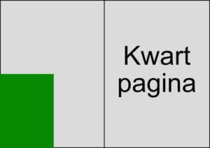 Kwart pagina